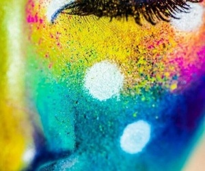 beautiful, colourful, and face image