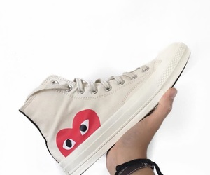 cdg, converse, and shoes image