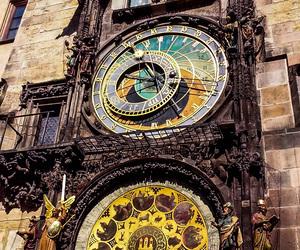 clock, prague, and travel image