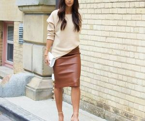brown, hair, and skirt image