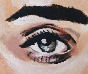 art, eye, and tan image
