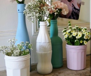 flowers, diy, and coca image