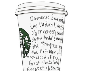 game of thrones, starbucks, and daenerys image