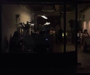 black, dark, and late night image