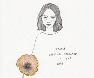 art, flower, and quotes image
