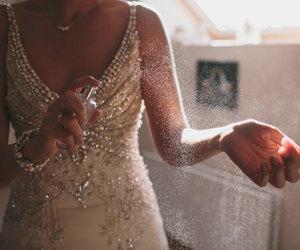 dress, perfume, and woman image