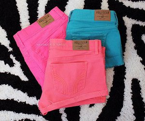 shorts, pink, and hollister image
