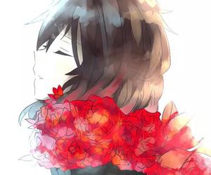 anime girl, anime, and flowers image