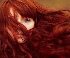 redhead lots of hair image