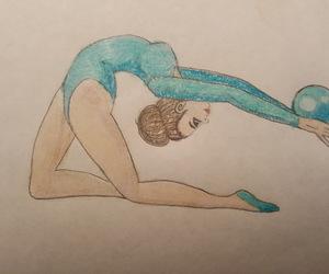 draw, gymnastics, and gimnasta image