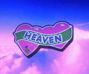 pink, heart, and heaven image