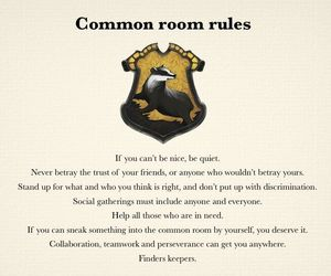 harry potter, hufflepuff, and hogwarts image