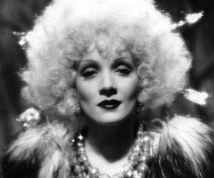 Marlene Dietrich, black and white, and fashion image