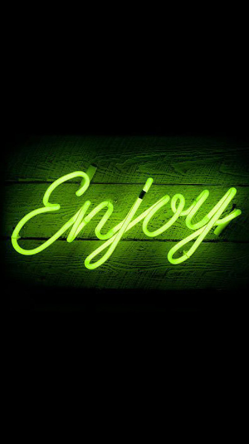 enjoy, neon, and quotes image