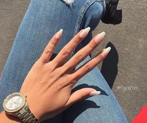 clothes, hand, and nail image