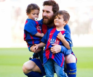 messi, cute, and love image