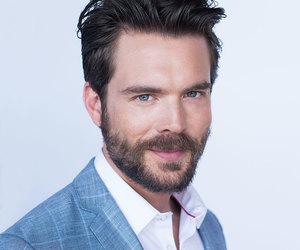 blue eyes, suit, and charlie weber image