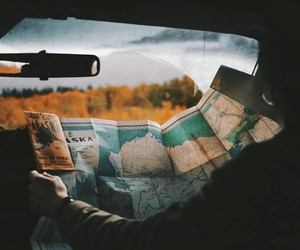 map, photography, and Road Trip image