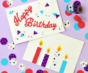 crafts, diyideas, and birthday cards image
