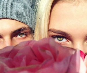 cool, couple, and eyes image