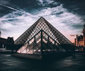 louvre, paris, and pyramid image
