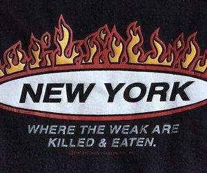 fire and new york image