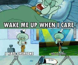 squidward, funny, and spongebob image