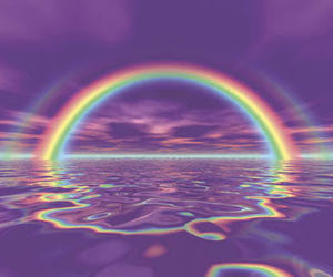 rainbow, purple, and aesthetic image