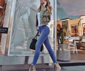 outfit, jeans, and look image