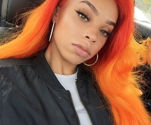 colorful hair, fun, and weave image