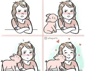 comic, comics, and pig image