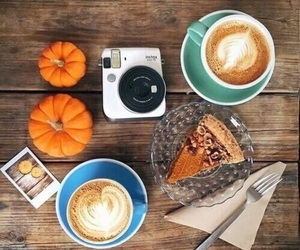 fall, autumn, and latte image