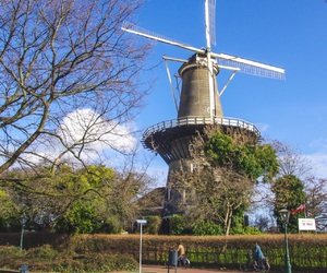 dutch, landscapes, and windmill image