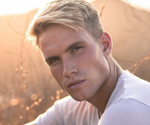 blonde, blue eyes, and austin rhodes image