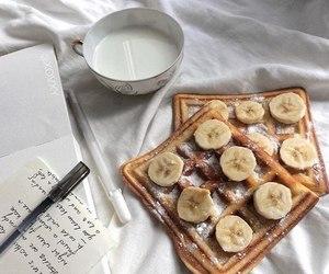 banana, delicious, and milk image