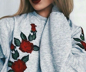 fashion, rose, and red image