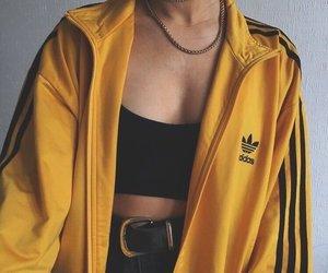 adidas, fashion, and yellow image