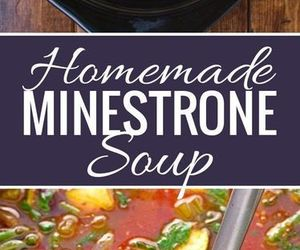 homemade, soup, and minestrone image