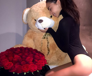rose and teddy bear image