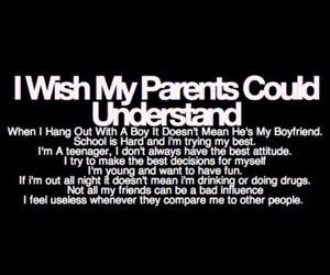 parents, quotes, and teenager image