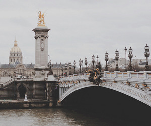 city, france, and bridge image