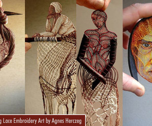 art and embroidery art works image