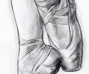 art, drawing, and ballet shoes image