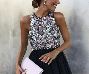 dress, fashion, and bag image