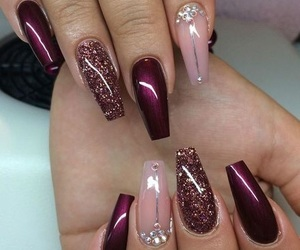 manicure, nails, and acryl image