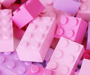 pink and lego image