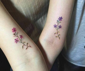 tattoo, flowers, and goals image