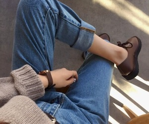 aesthetics, girl, and jeans image