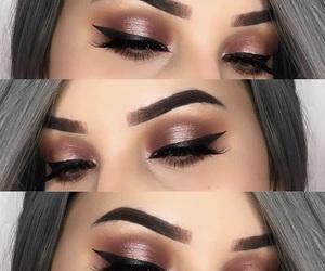 autumn, boho, and eye makeup image
