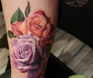 flores, flowers, and ink image